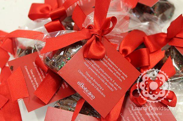 Brownies Natal O Boticário | Confeitaria da Luana