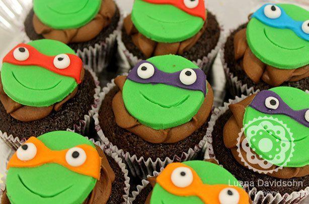 Cupcakes Tartaruga Ninja | Confeitaria da Luana