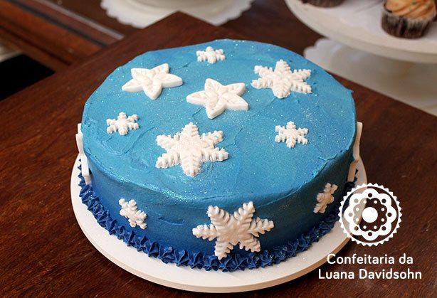 Bolo da Frozen | Confeitaria da Luana