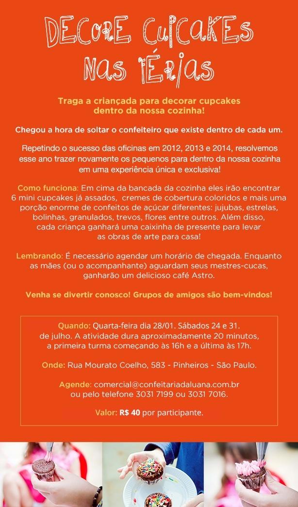 Decore nas Férias 2015!!   Confeitaria da Luana
