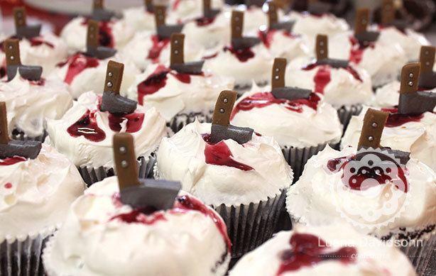 Cupcake com Sangue de Geleia | Confeitaria da Luana