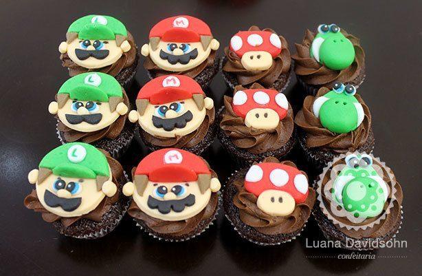 Cupcakes Mario Bros | Confeitaria da Luana