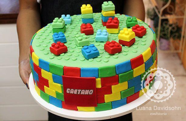 Bolo do Lego para Caetano | Confeitaria da Luana
