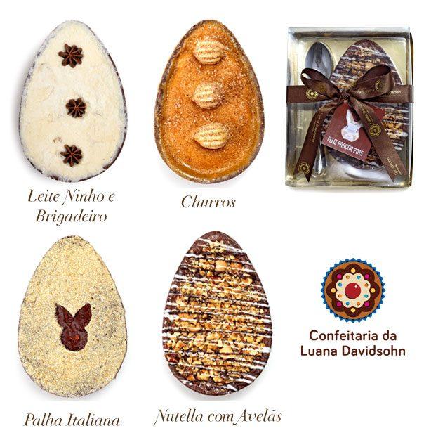 Ovos de Páscoa Confeitaria da Luana   Confeitaria da Luana