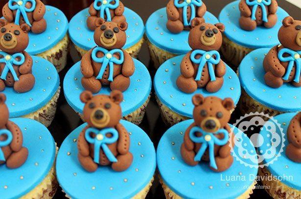 Cupcake Chá de Bebê Urso | Confeitaria da Luana