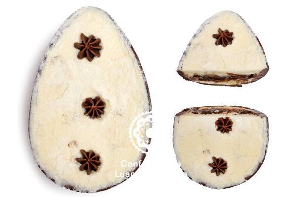ovo de páscoa Leite Ninho com brigadeiro