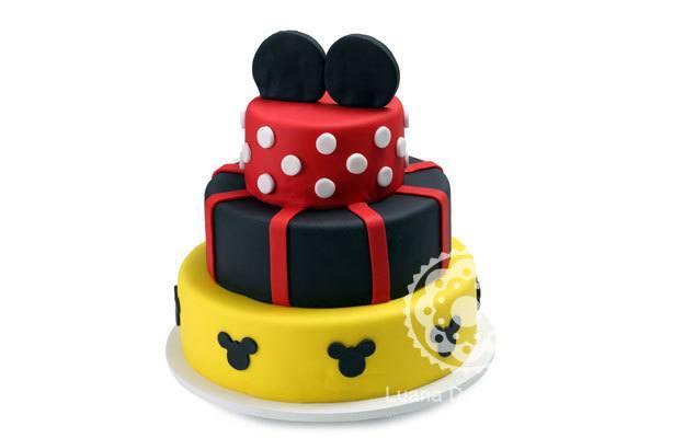 Bolo Mickey 3 Andares | Confeitaria da Luana