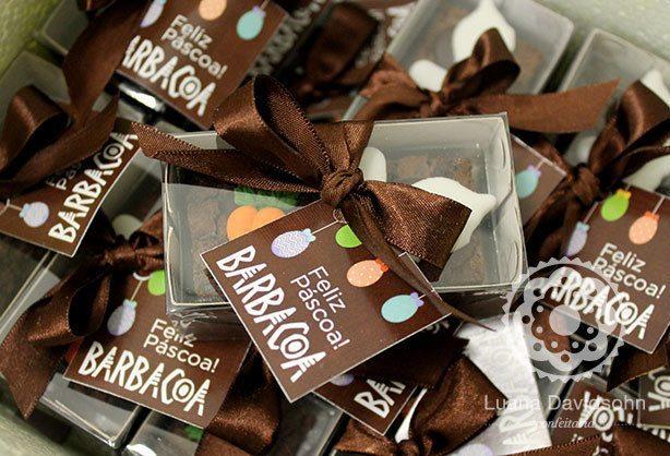 Brownies de Páscoa Brinde | Confeitaria da Luana