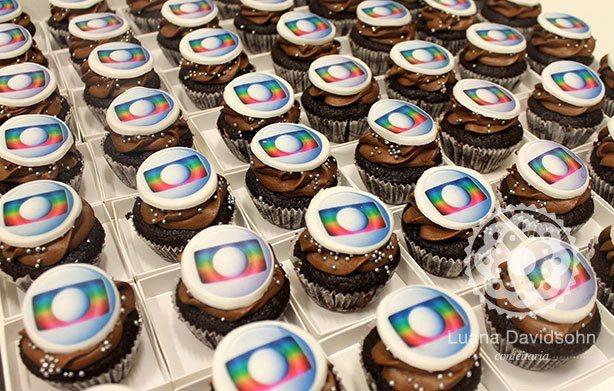 Cupcake personalizado TV Globo