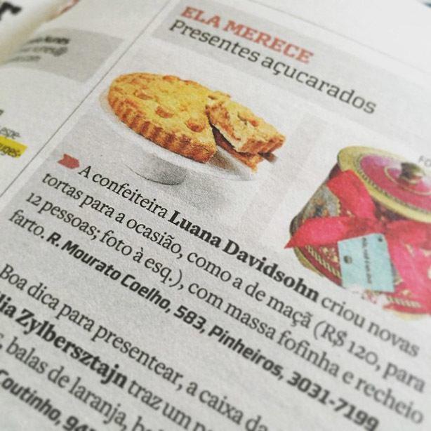 Torta de Maçã no Estadão | Confeitaria da Luana