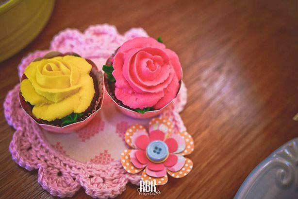 Cupcake e Tortinha Rapunzel | Confeitaria da Luana