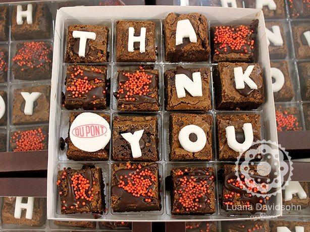 Brownies Agradecimento | Confeitaria da Luana