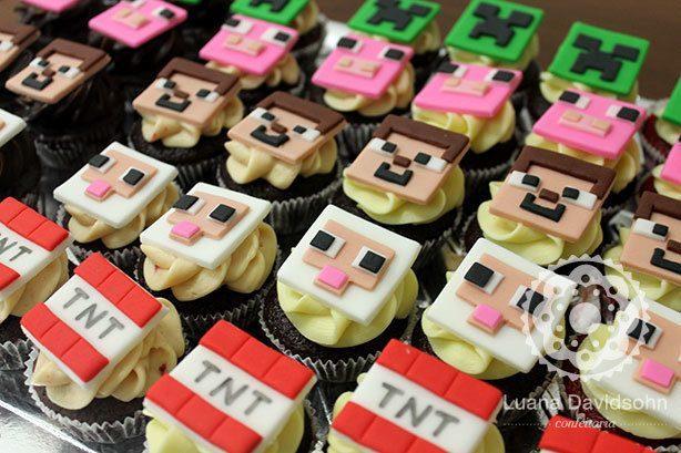 Cupcake Minecraft | Confeitaria da Luana
