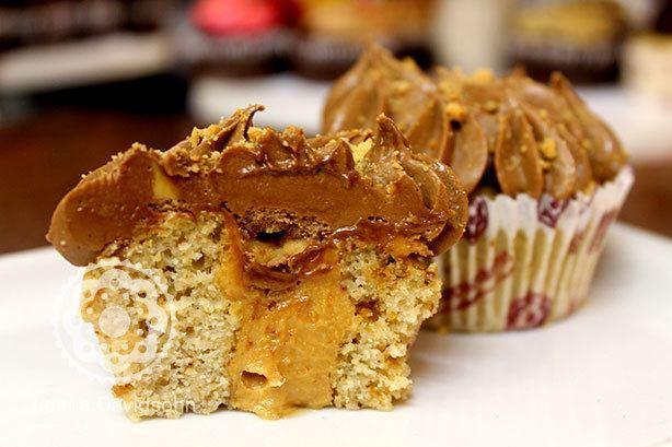 Cupcake de Paçoca Diet | Confeitaria da Luana