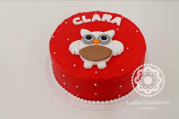 Bolo e Cupcake de Coruja | Confeitaria da Luana