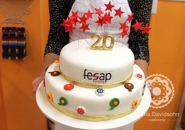 Bolo de Aniversário 20 anos da Fesap | Confeitaria da Luana