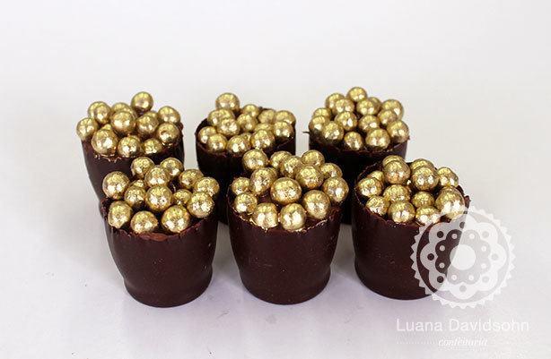 Casquinhas de Chocolate Belga Recheadas | Confeitaria da Luana