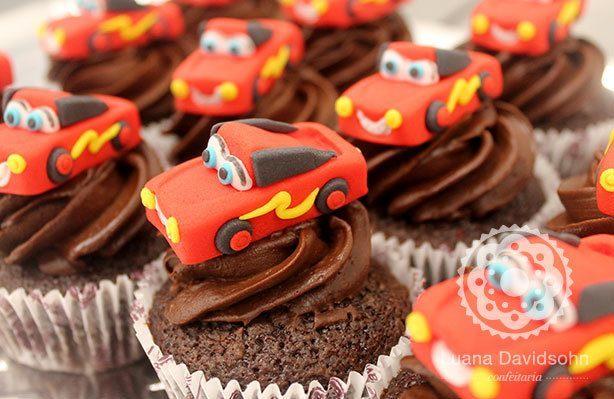 Cupcake do Cars | Confeitaria da Luana