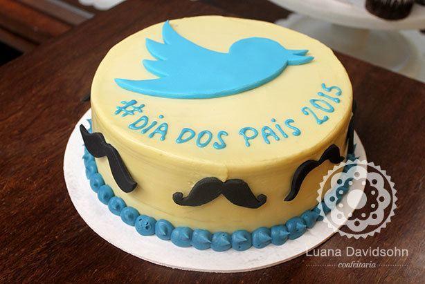 Bolo Dia dos Pais Twitter | Confeitaria da Luana