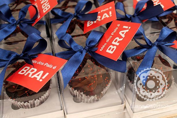 Cupcake Dia dos Pais Bradesco | Confeitaria da Luana
