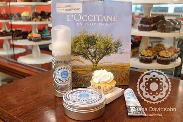 Cupcake Ação Lançamento L´Occitane | Confeitaria da Luana