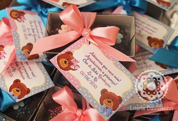Lembrancinha Chá Revelação | Confeitaria da Luana