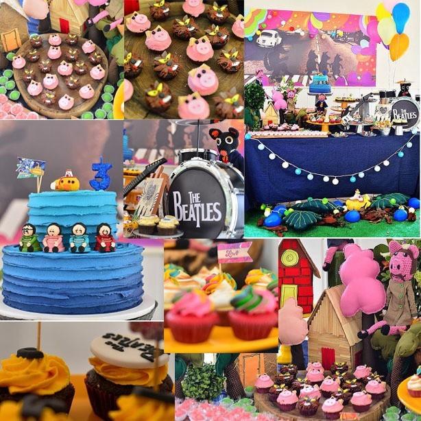 Cupcake Três Porquinhos e The Beatles | Confeitaria da Luana