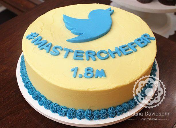 Bolo Corporativo do Twitter #MasterChefBr | Confeitaria da Luana