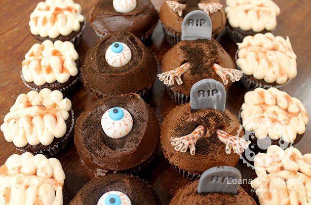Cupcake Zumbi | Confeitaria da Luana