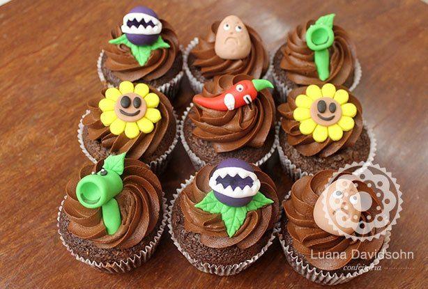 confeitaria da luana bolo e cupcake plantas x zumbis