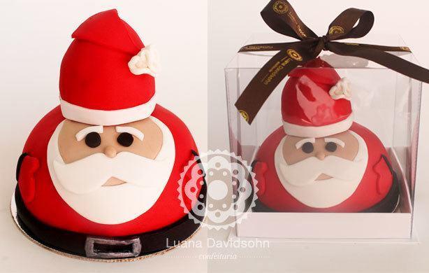 Bolo de Papai Noel | Confeitaria da Luana