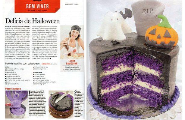Receita de Bolo Halloween Contigo! | Confeitaria da Luana