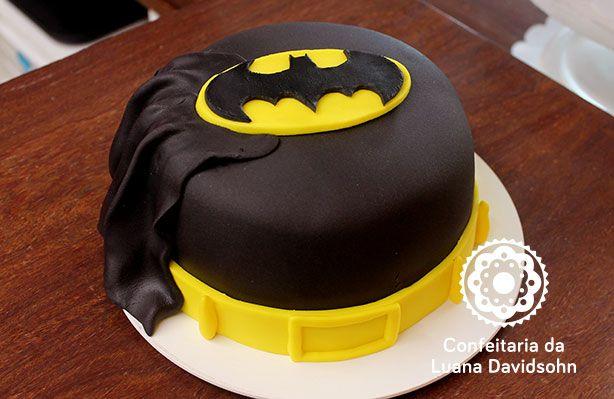 Bolo Batman | Confeitaria da Luana