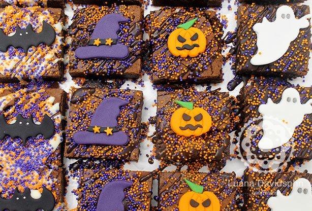 Brownie de Halloween | Confeitaria da Luana