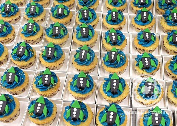 Cupcake de Foguete | Confeitaria da Luana