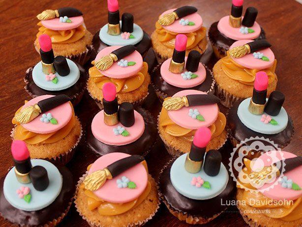 Cupcakes de SPA e Maquiagem | Confeitaria da Luana