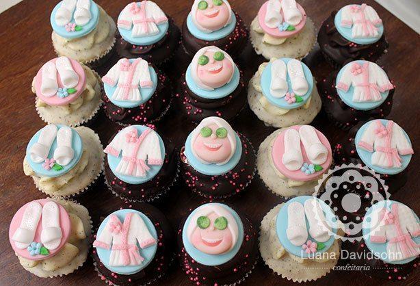Cupcakes de SPA e Maquiagem