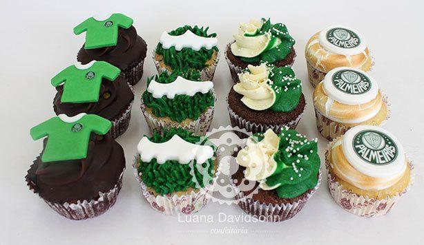 Cupcakes do Palmeiras