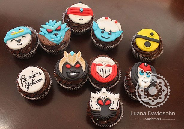 Cupcake League of Legends | Confeitaria da Luana