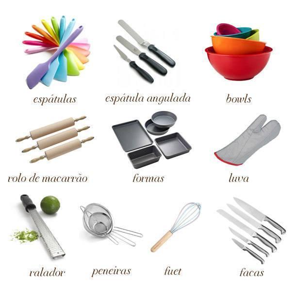 10 utensílios básicos na cozinha | Confeitaria da Luana