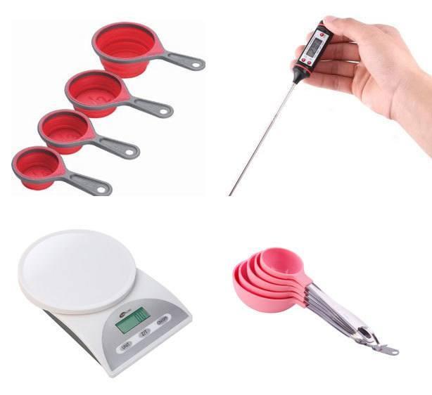 Por que usar balança, xícaras e colheres medidoras e termômetro. | Confeitaria da Luana