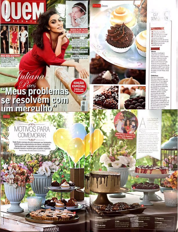 Confeitaria da Luana na Revista Quem | Confeitaria da Luana
