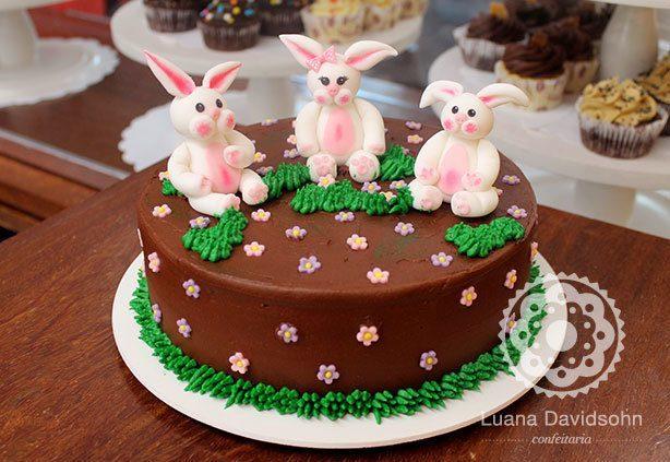 Bolo de Páscoa para Aniversário | Confeitaria da Luana
