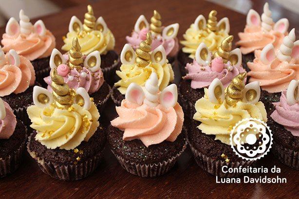 Cupcake Unicórnio | Confeitaria da Luana