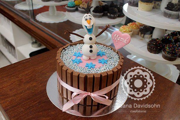 Bolo Frozen e Biscoitos Decorados | Confeitaria da Luana