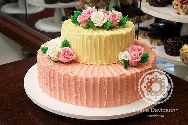Bolo Flores Casamento | Confeitaria da Luana