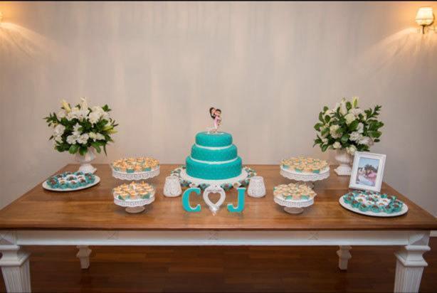 Bolo Noivado Tiffany | Confeitaria da Luana