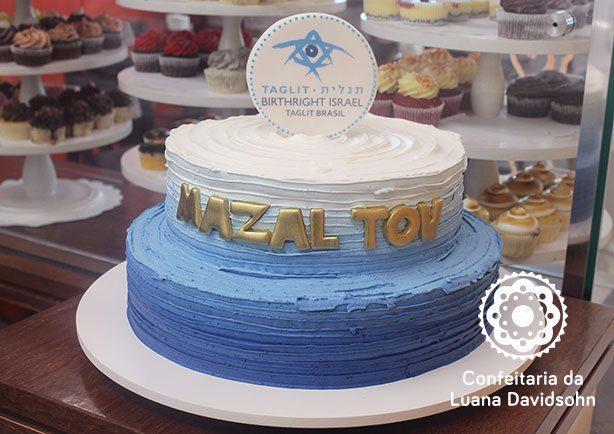 Bolo Bar Mitzva | Confeitaria da Luana