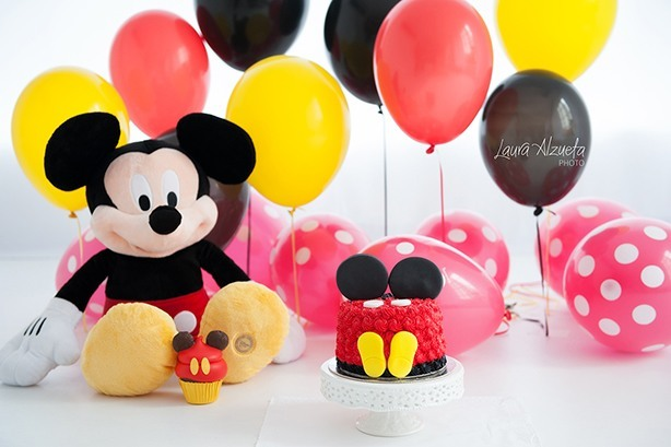 Bolo Smash The Cake Mickey | Confeitaria da Luana