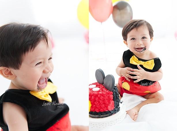 Bolo Smash The Cake Mickey | Confeitaria da Luana